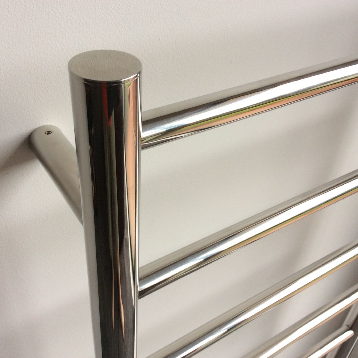 Heated Towel Rail Newtech 7 Bar Round Ladder 60w Stainless Wiring Electric