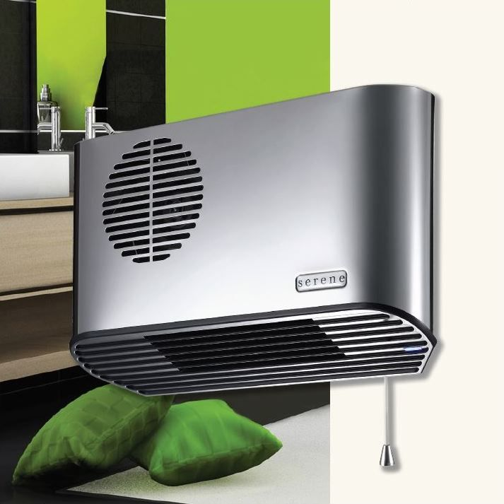 Bathroom Fan Heater: Serene 'All Metal' 2.4kW Anthracite/Carbon
