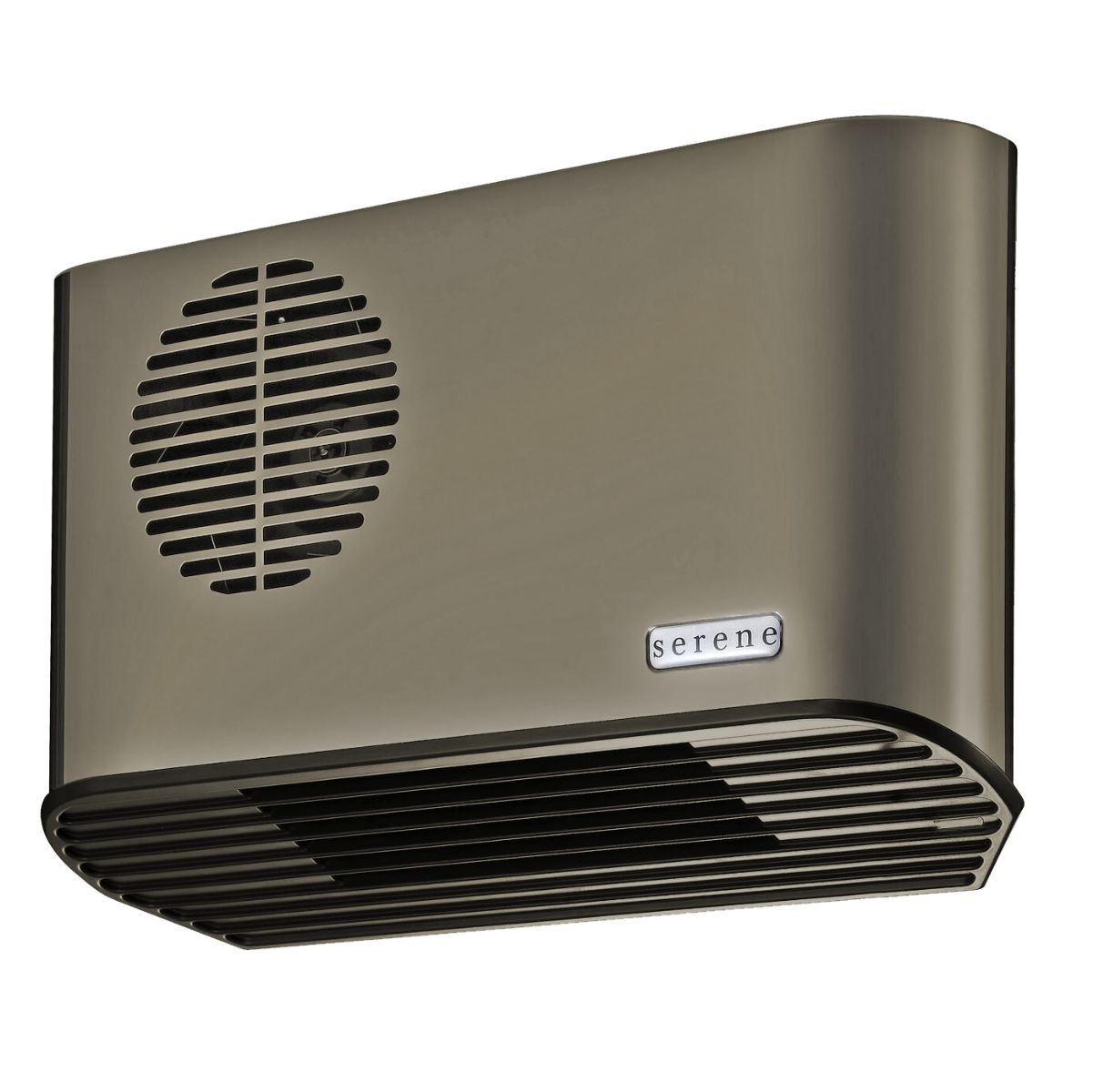 Bathroom Fan Heater: Serene S2088A All Metal 2.4kW Anthracite/Grey