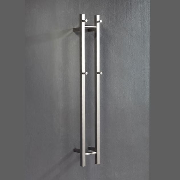 Heated Towel Rail: HOTWIRE™ V2 'Easy Fix' 40W Polished Stainless, Vertical Space Saver
