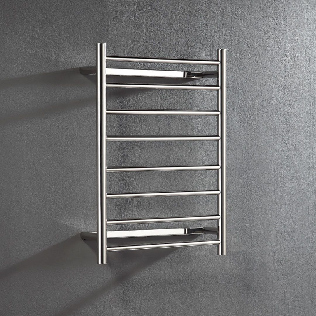 Unheated Towel Rail: Hot Wire 'Easy Fix' Flat Round 8 Bar Polished