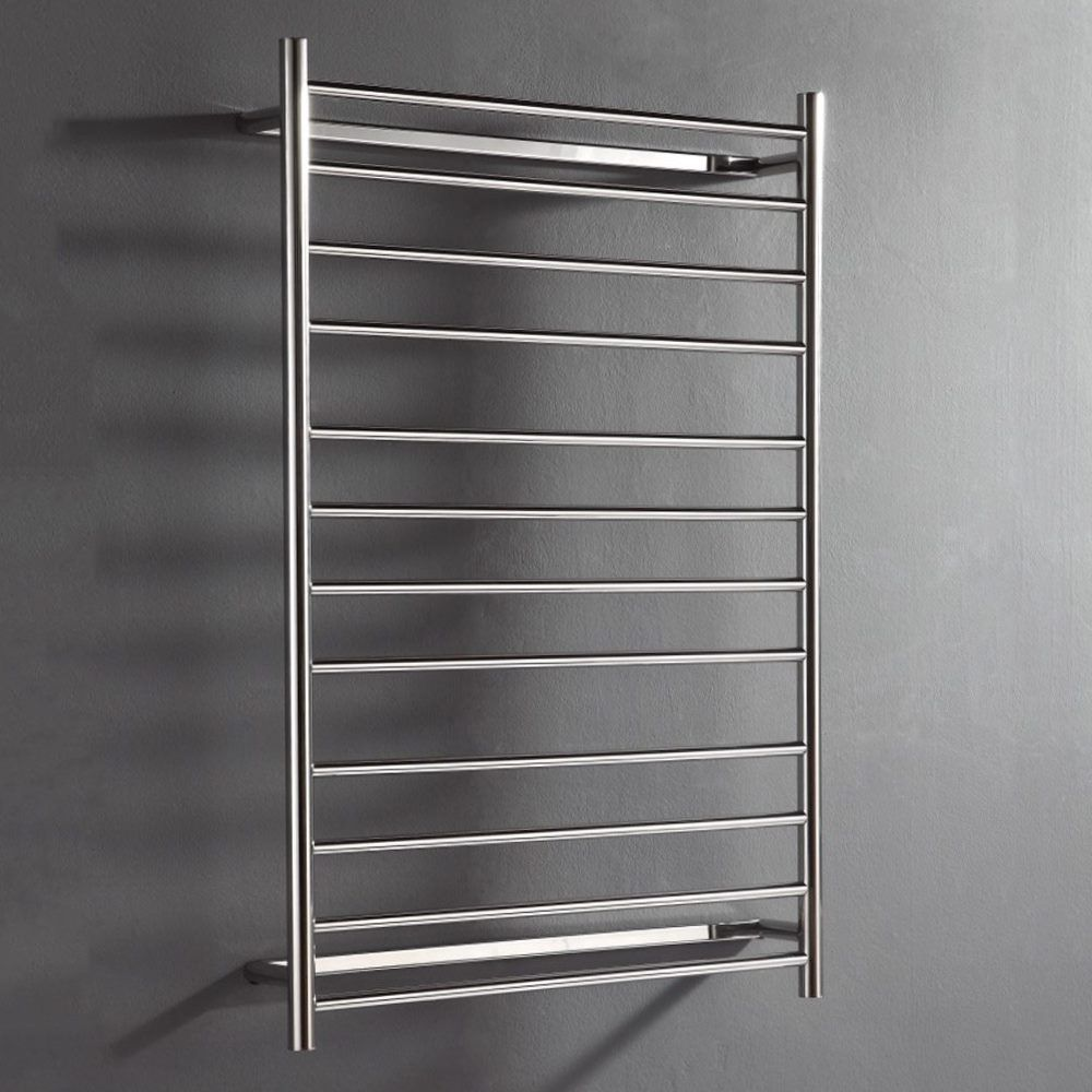 Unheated Towel Rail: Hot Wire 'Easy Fix' Flat Round 12 Bar Polished