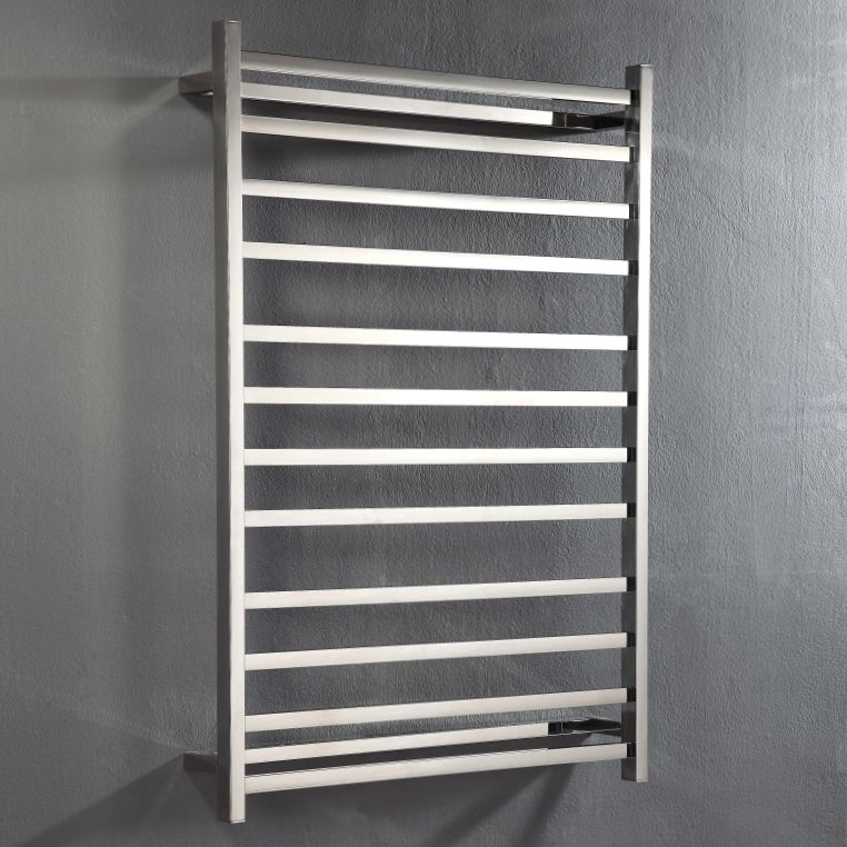 Unheated Towel Rail: Hot Wire 'Easy Fix' Flat Square 12 Bar Polished