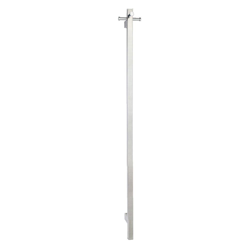 Heated Towel Rail: Hot Wire 'Aguzzo' Vertical Square. 25W Polished