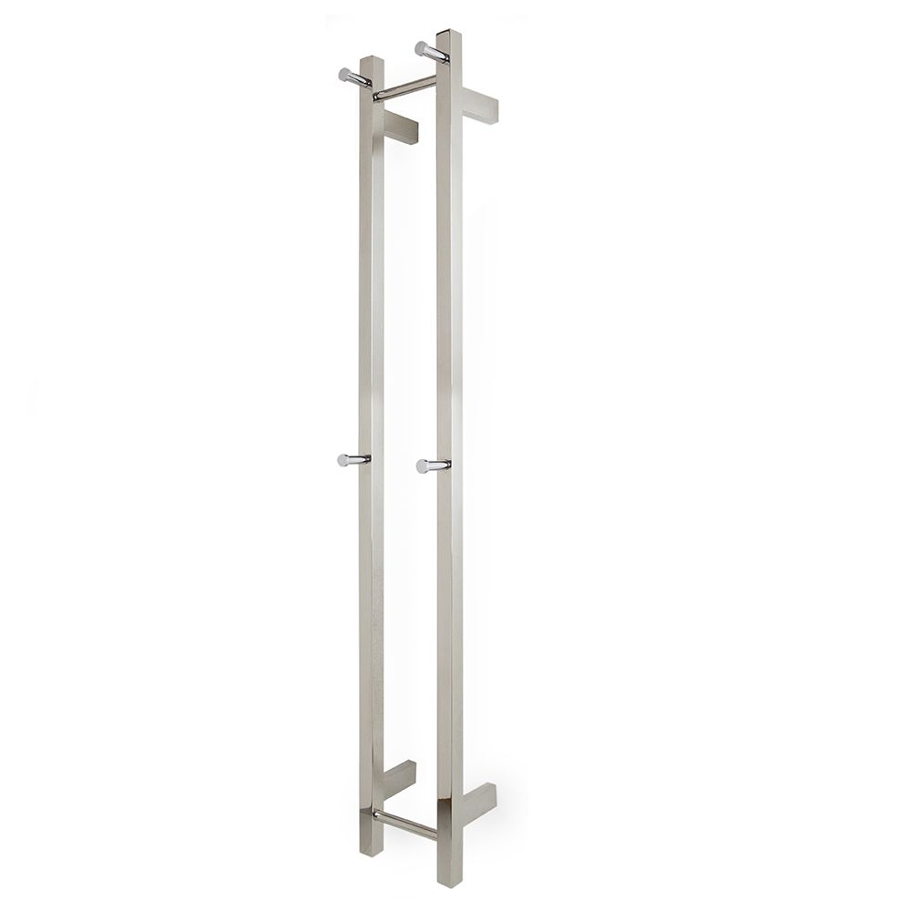 Heated Towel Rail: Aguzzo® HWAGGV2 54W Polished, Vertical Space Saver