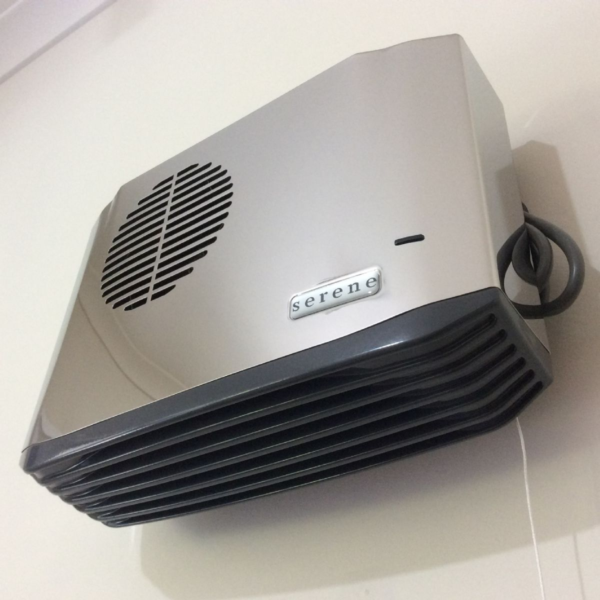 Bathroom Fan Heater: Serene 'Compact' 2.4kW Polished Chrome