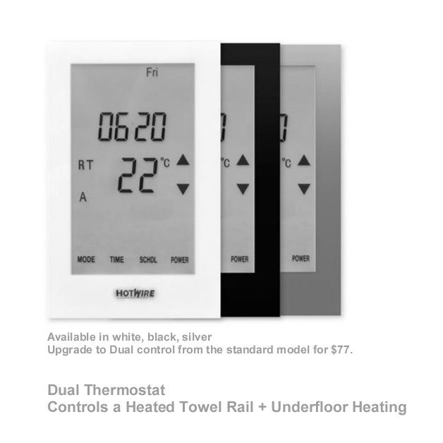 Hotwire Thermostat: Dual Model, Flush mounted