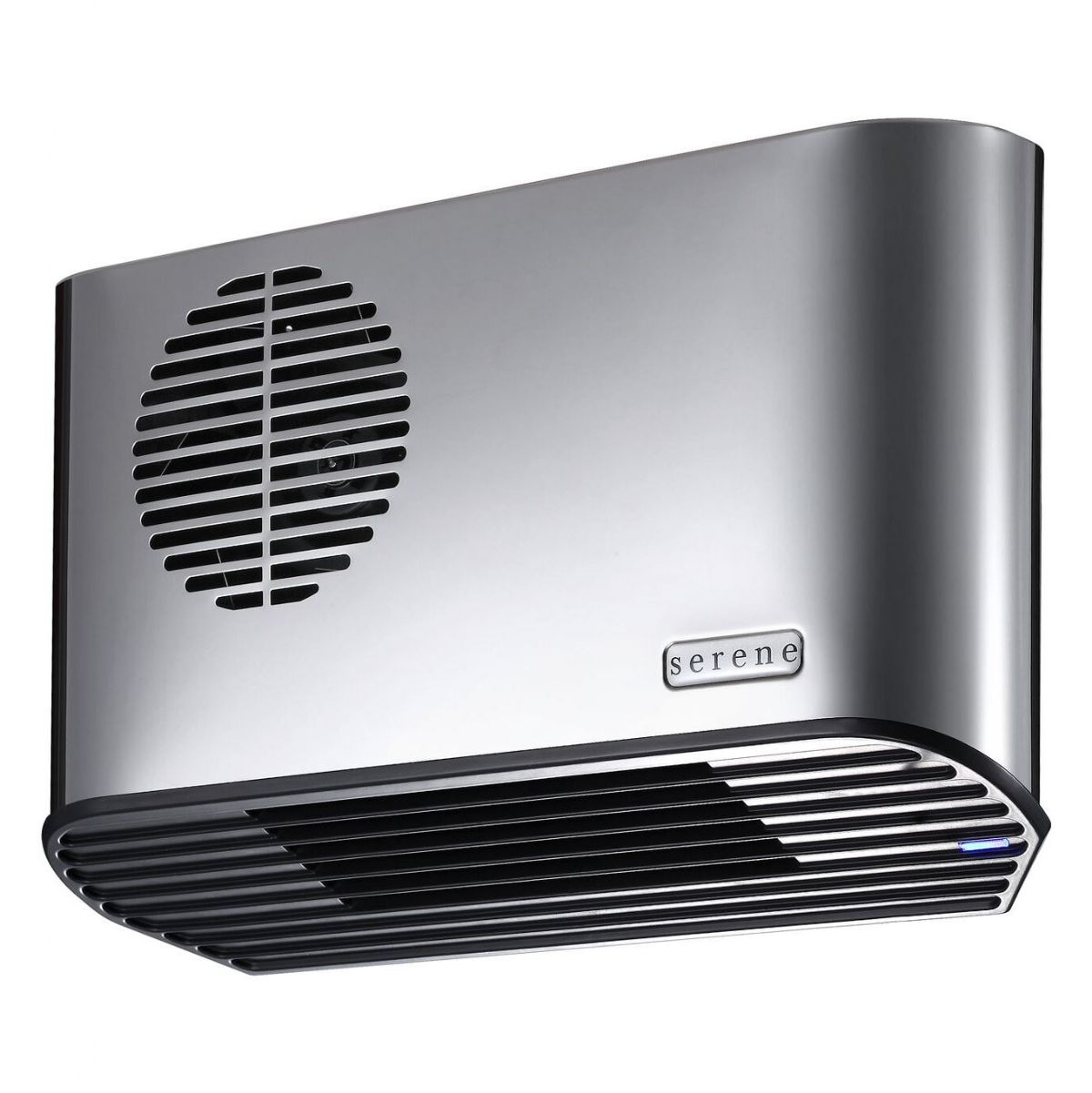 Bathroom Fan Heater Serene All Metal 2 4kw Polished Chrome