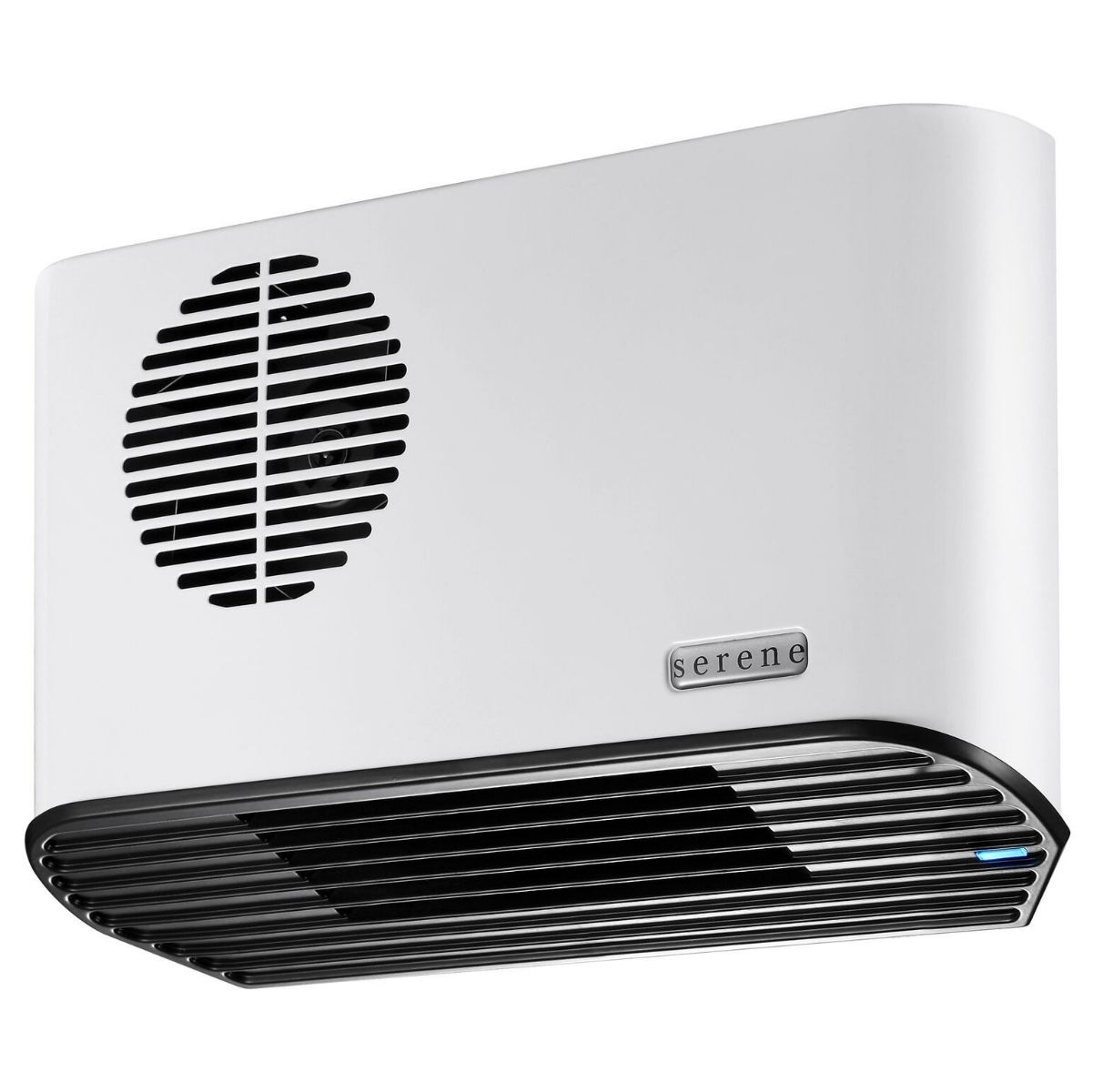 Bathroom Fan Heater:  Serene S2088W All Metal 2.4kW  White