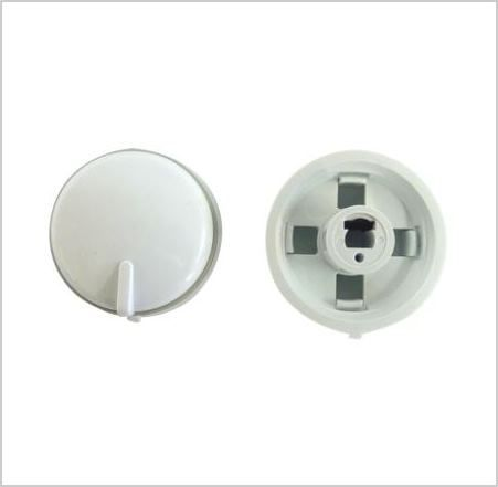 KNOB: Oven control knob white with grey band