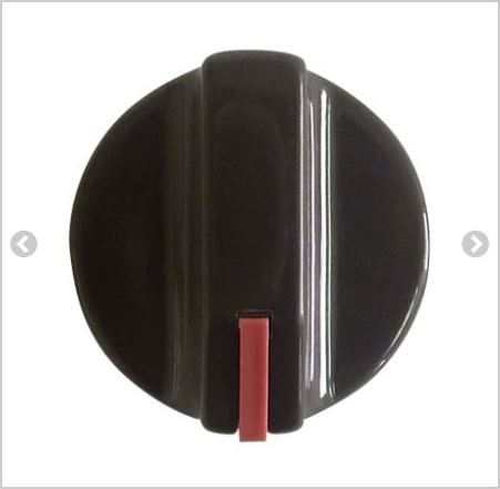 KNOB: Oven control knob brown with red indicator